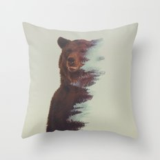 Observing Bear Throw Pillow