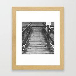 Wood Bridge Framed Art Print