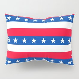 Red White Blue Stars Stripes Patriotic Pillow Sham
