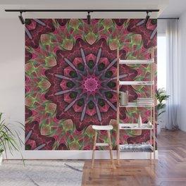 Scarlet Lace Starburst Mandala Wall Mural