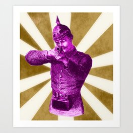 Pink Soldier Art Print