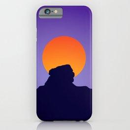 Sri Lanka Sigriya : Sun Mountain Silhouette iPhone Case