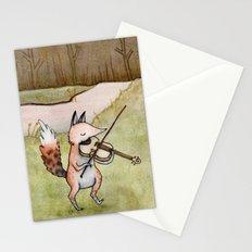 Violin Fox Stationery Cards