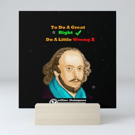TO DO A GREAT RIGHT Mini Art Print