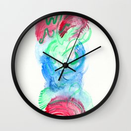 and wings were placed upon my heart Wall Clock