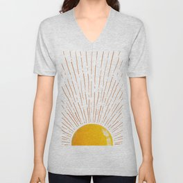 #06#Sunny side up landscape Unisex V-Neck