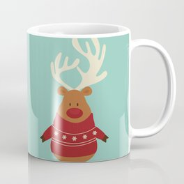 Rudolph Red Nosed Reindeer in Ugly Christmas Sweaters Coffee Mug