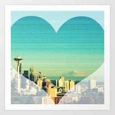 Seattle Love Art Print
