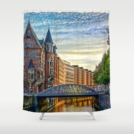Hamburg Architecture Shower Curtain