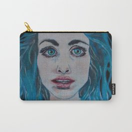 Opal Eyes, Colored Hair Carry-All Pouch
