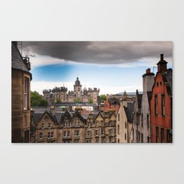 View of Edinburgh architecture from Victoria Street Canvas Print