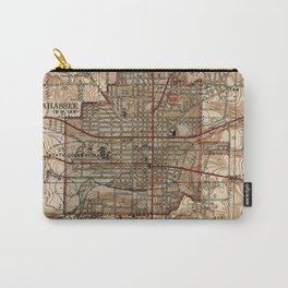 Vintage Map of Tallahassee Florida (1940) Carry-All Pouch