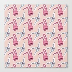 sticker monster pattern 7 Canvas Print
