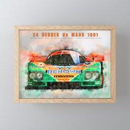 Winner Le Mans 1991 Framed Mini Art Print