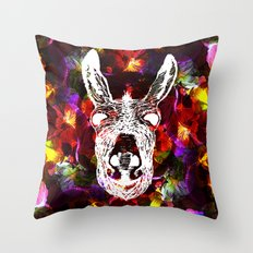 Wonky Donkey Flower  Throw Pillow