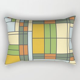 Stained glass pattern S01 Rectangular Pillow