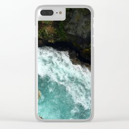 The Waikato at Huka Falls Clear iPhone Case
