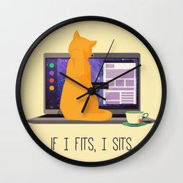 If I Fits, I Sits Wall Clock