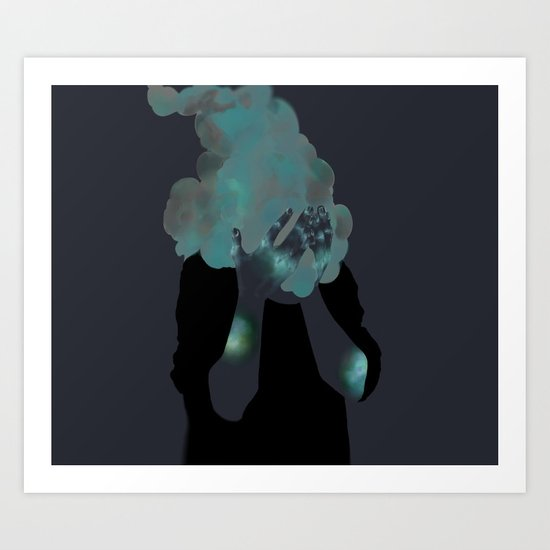 Smoke Inverted Art Print