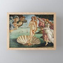 The Birth of Venus by Sandro Botticelli, 1445 Framed Mini Art Print