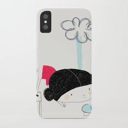 What the rain brings iPhone Case