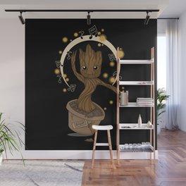 Groovy baby Groot Wall Mural