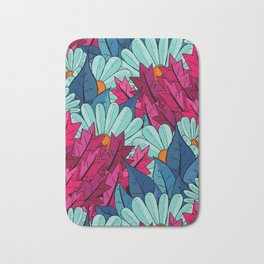 The leaves and the flowers Bath Mat