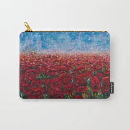 Poppy Field Palette Knife Painting By OLena Art Carry-All Pouch