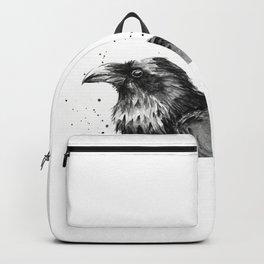 Raven Watercolor Bird Animal Backpack