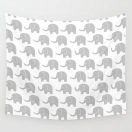 Grey Elephant Parade Wall Tapestry