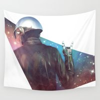 daft punk Wall Tapestries featuring Daft Punk by Camila Fernandez