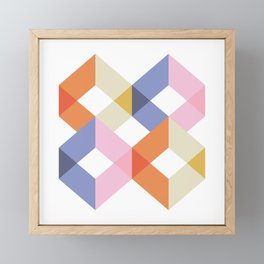 Cubes Framed Mini Art Print