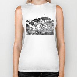 Telegraph Hill Print Black and Grey Biker Tank
