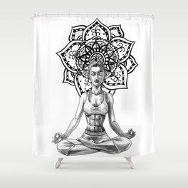 Sukhasana Shower Curtain