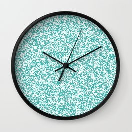 Tiny Spots - White and Verdigris Wall Clock