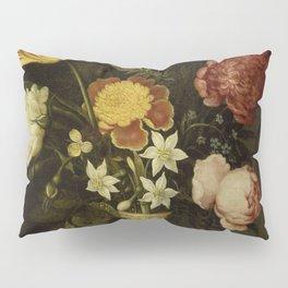 Ambrosius Bosschaert - Still life with flowers in a Wan-Li vase (1619) Pillow Sham