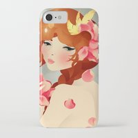 lily iPhone & iPod Cases featuring Lily by Jenny Lloyd Illustration
