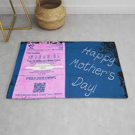 Mothers Day Lottery ticket Rug