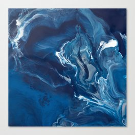 """Color Commentary #5: """"Undertow"""" (Blue & Grey) [Philip Earls] Canvas Print"""