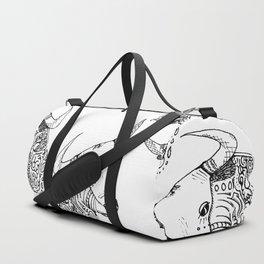 TAURUS - bull - zodiac doodle series abstract Duffle Bag