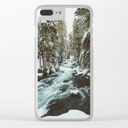 The Wild McKenzie River Portrait - Nature Photography Clear iPhone Case