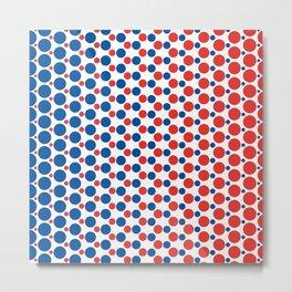 Bleu Blanc Rouge-Dots - Living Hell Metal Print