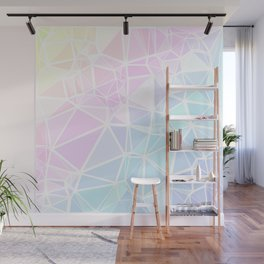 Pastel Triangles 1 Wall Mural
