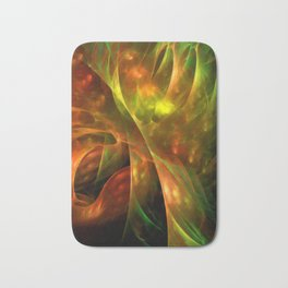 Abstract colorful lightning fractal Bath Mat