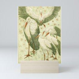 Art Nouveau Bird Print Mini Art Print