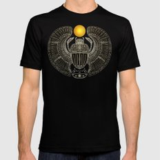 Sacred Scarab. Black Mens Fitted Tee SMALL