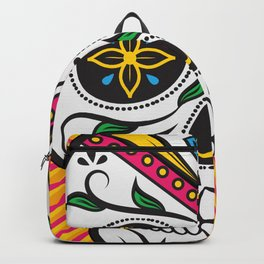 High Rolling In Your Face Dias De Los Muertos Smiling Skull Backpack