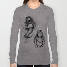 That whole anxiety and shit Long Sleeve T-shirt