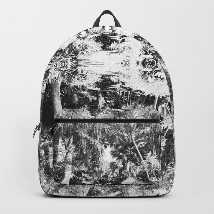 Black n White Boho Pattern Backpack