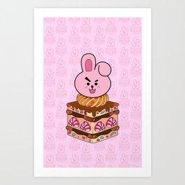 BT21 COOKY Strawberry Cake BTS JUNGKOOK Jeon Jungkook Art Print